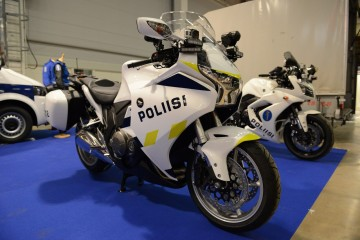 The new police bike in the foreground, the old in the background