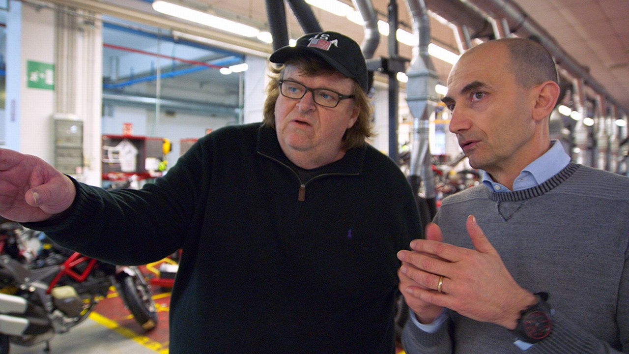 In the Ducati factory with the CEO. Picture: Courtesy of Dog Eat Dog Films