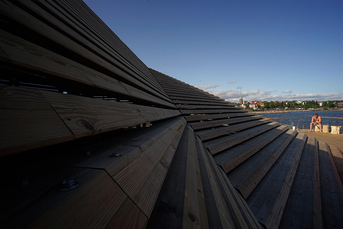 Löyly, a luxurious public sauna, opened its doors in June at Hernesaari in Helsinki. Picture: Morgan Walker for Finland Today