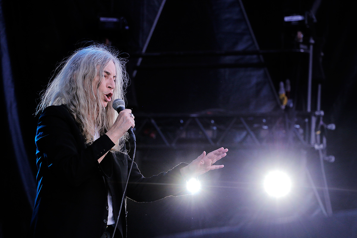 Patti Smith, the godmother of punk, performing at Ruisrock festival in Ruissalo, Turku on July 10, 2016. Picture: Tony Öhberg for Finland Today
