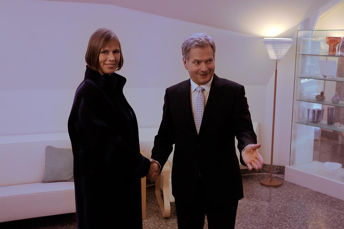 Kersti Kaljulaid, the president of Estonia, visiting Mäntyniemi to meet his Finnish counterpart, Sauli Niinistö, in Helsinki on October 20, 2016. Picture: Tony Öhberg for Finland Today