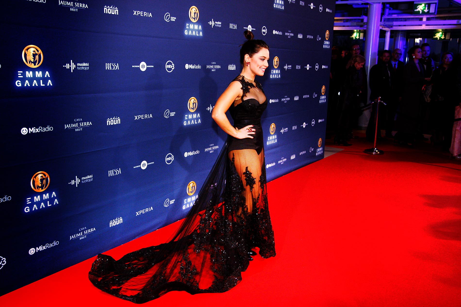 Anna Abreu posing at the Emma Gala at Barona Arena in Espoo, Finland on Friday, February 27 2015. Picture: Tony Öhberg for Finland Today