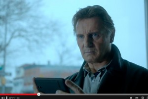 LIam Neeson in the commercial for 'Clash of Clans'. Picture: YouTube