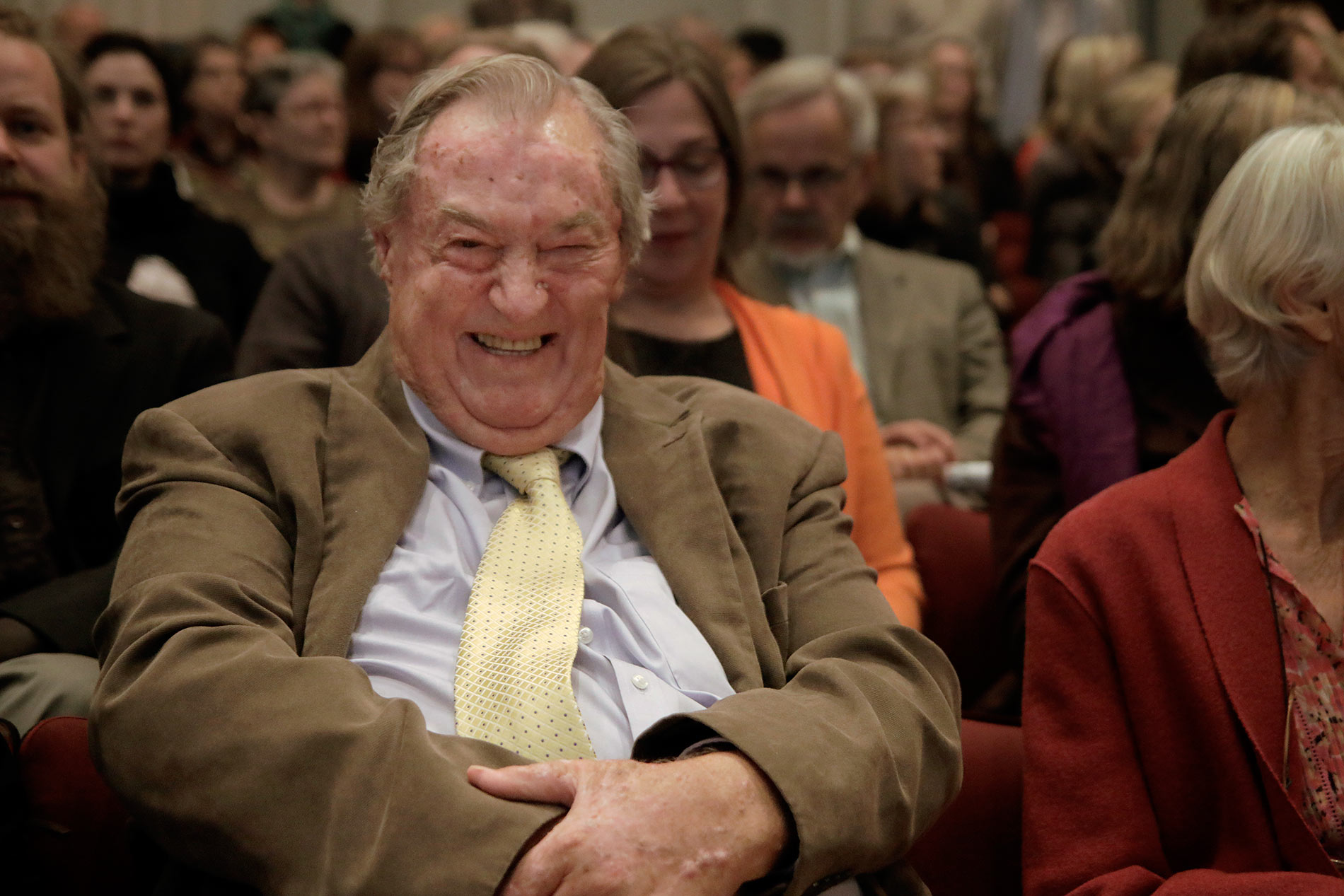 Richard Leakey, the Kenyan paleoanthropologist, visiting the Great Hall of Helsinki University on Wednesday April 6 2015. Picture: Tony Öhberg for Finland Today