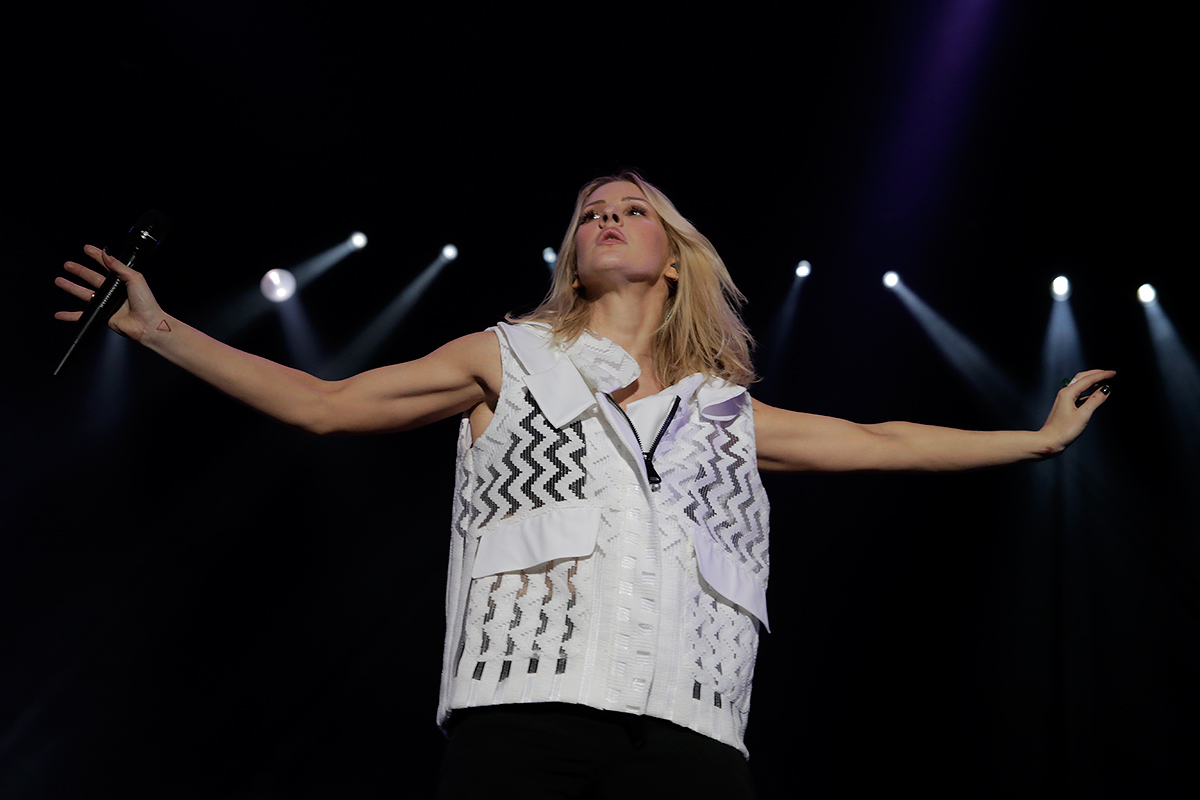 Ellie Goulding performing at Ruisrock festival in Turku, Finland on July 3 2015. Picture: Tony Öhberg for Finland Today