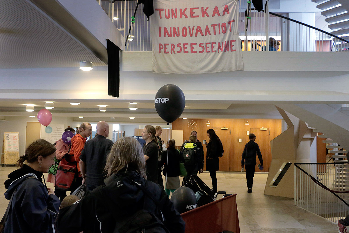 Activists Take Over the University Building Porthania in Helsinki