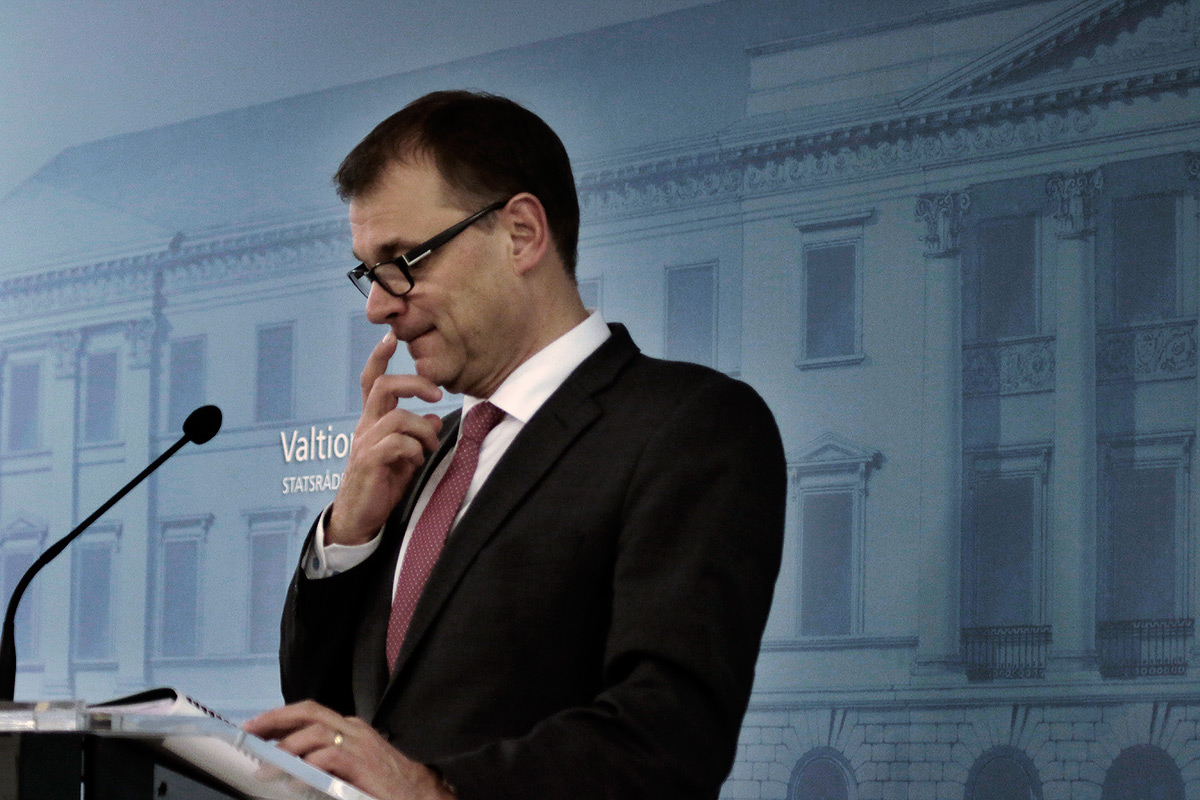The trust in the Finnish government has sunk significantly in the past three years. In the picture, Prime Minister Juha Sipilä. Picture: Tony Öhberg for Finland Today