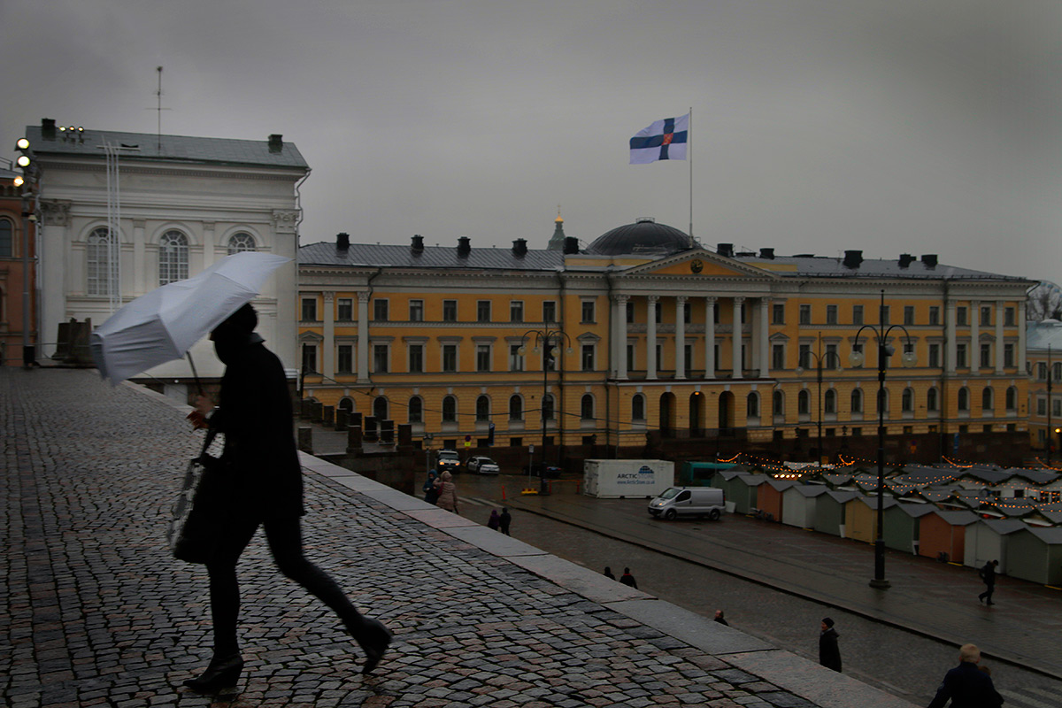 Finland's 98th Independence Day was celebrated in heavy rain and wind on Sunday, December 6 2015. PIcture: Tony Öhberg for Finland Today
