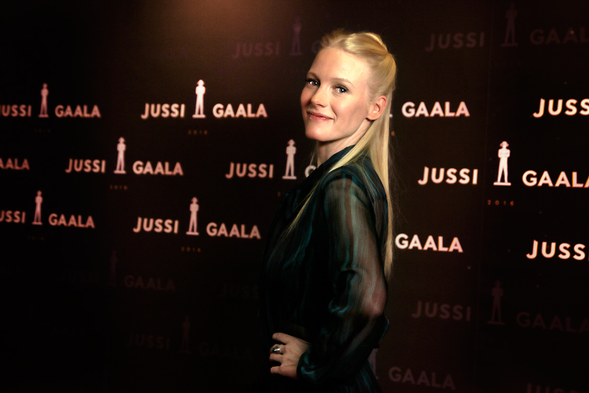 Laura Birn, one of the most accomplished Finnish actresses, posing at 2016 Jussi Awards. Picture: Tony Öhberg for Finland Today