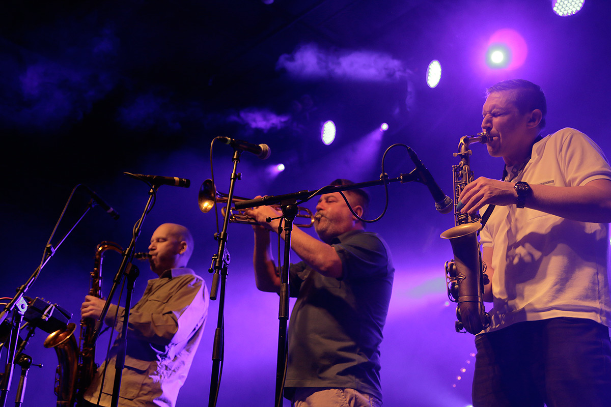 The Herbaliser stunned the crowd with their masterful play of wind instruments and intense scratching. Picture: Tony Öhberg for Finland Today