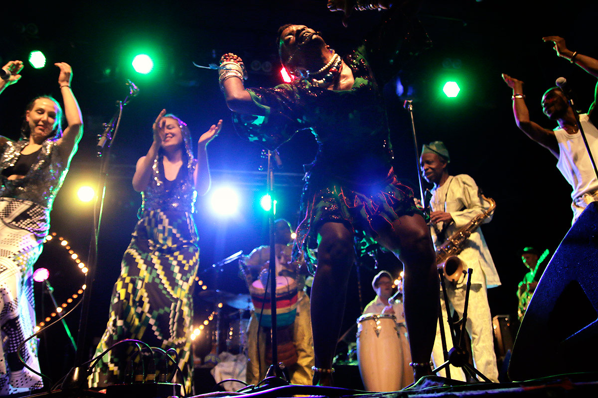 Orlando Julius w/Aiyekooto and the band Afrobeat International. Picture: Tony Öhberg for Finland Today