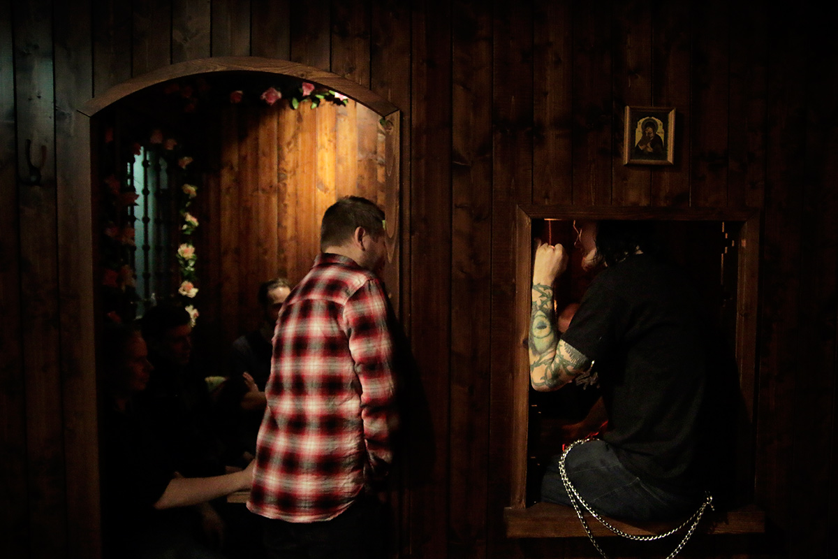 The confession booth liberates you from past sins. Picture: Tony Öhberg for Finland Today