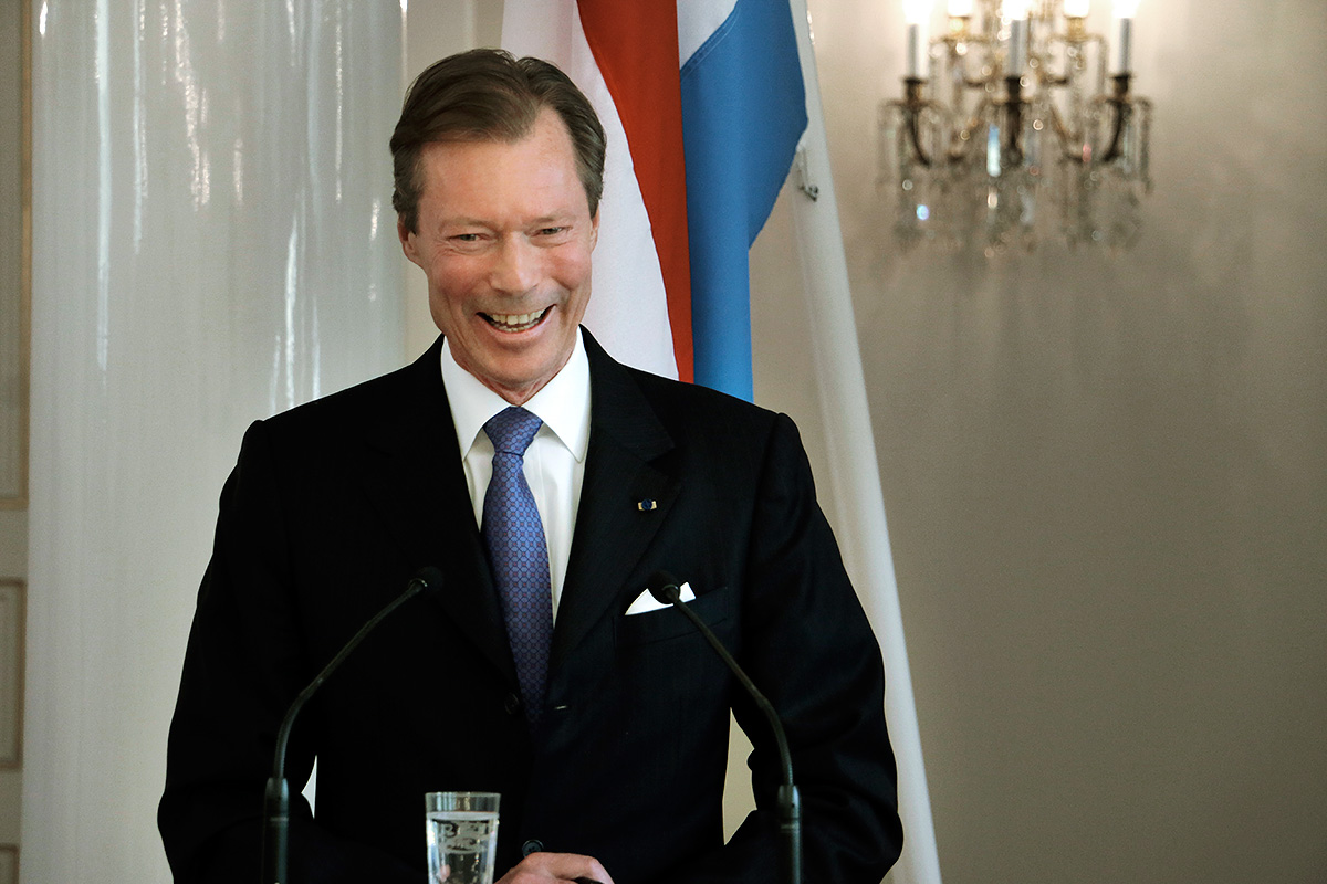Grand Duke Henri during a press conference the Presidential Palace. Picture: Tony Öhberg for Finland Today