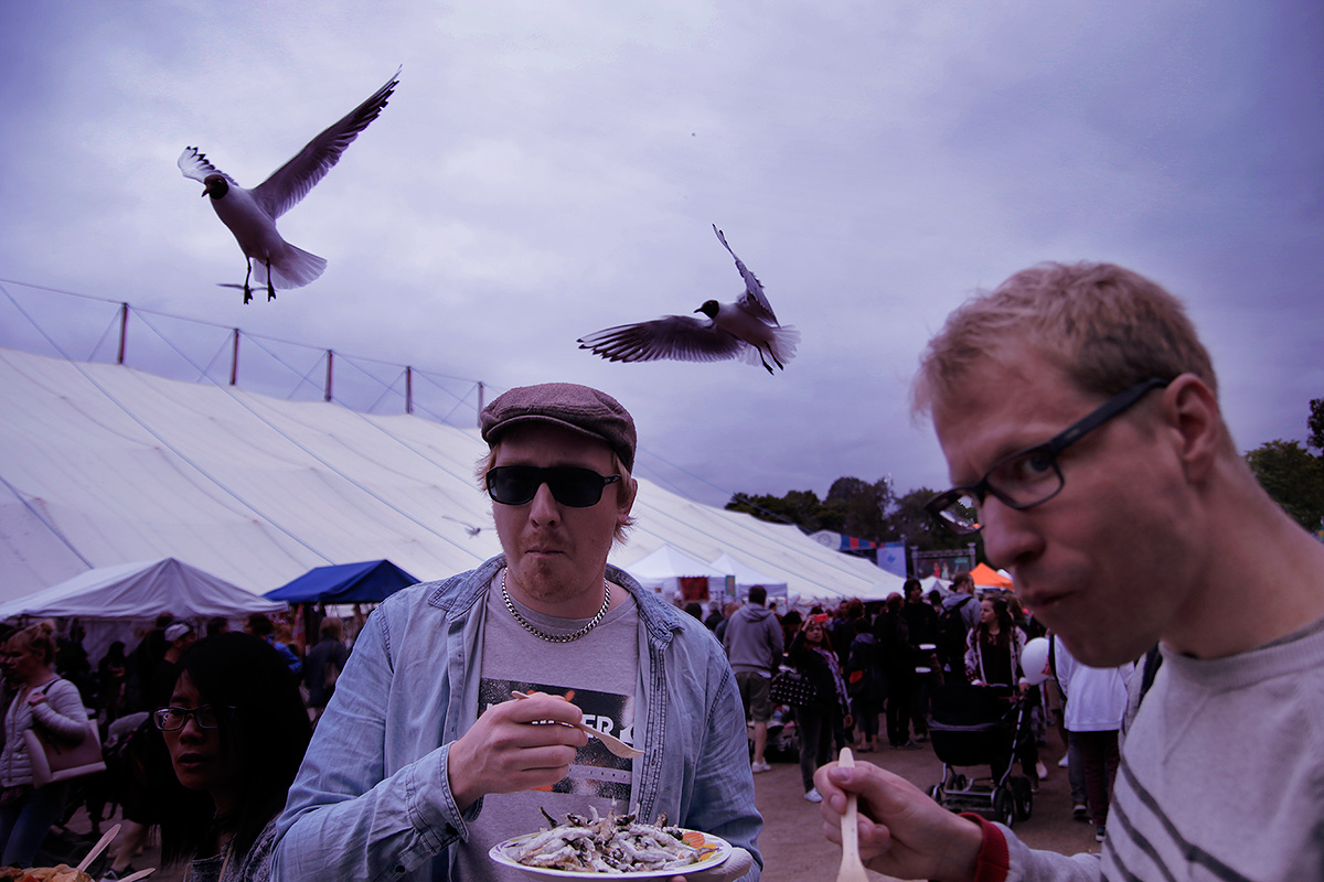 Food and seagulls. Picture: Tony Öhberg for Finland Today