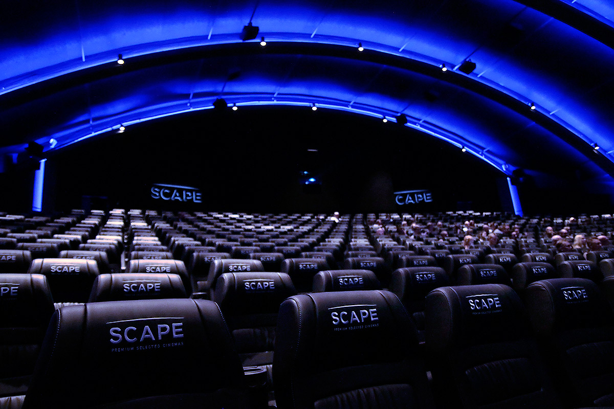 There are 635 wide and comfortable seats in the Scape auditorium.