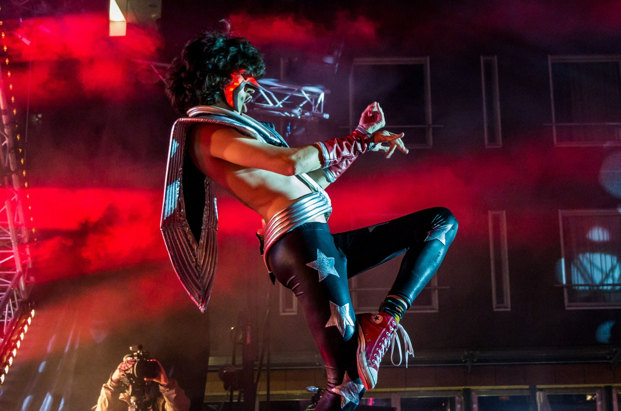 """Russian air guitar artist Kereel """"Your Daddy"""" Blumenkrants, who won the championships last year, came second. Picture: Ivika Jäger for Finland Today"""