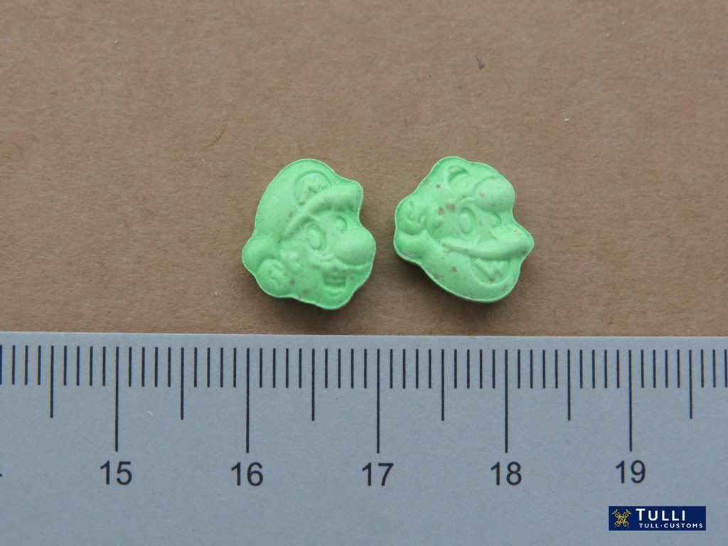 Ecstasy tablets in the form of Super Mario Bros. Picture: The Finnish Customs