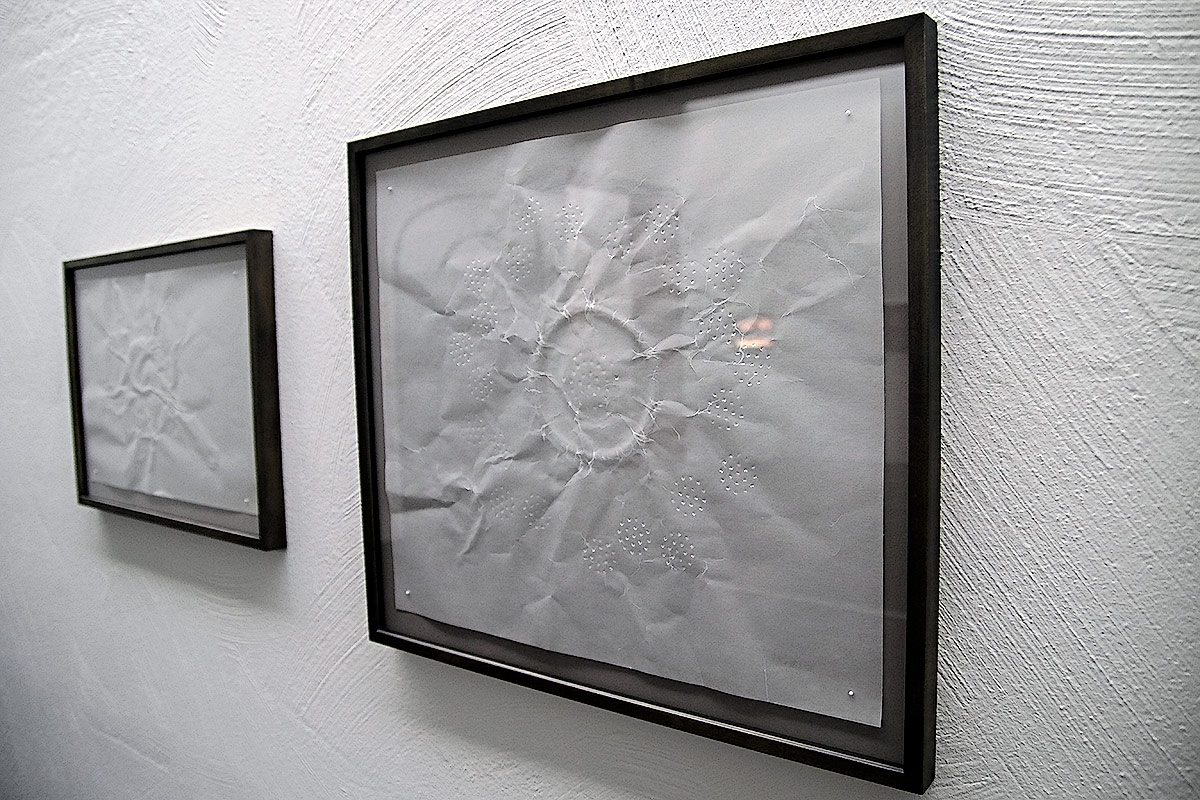 'Untitled', an installation on Japanese wax paper. Picture: Tony Öhberg for Finland Today