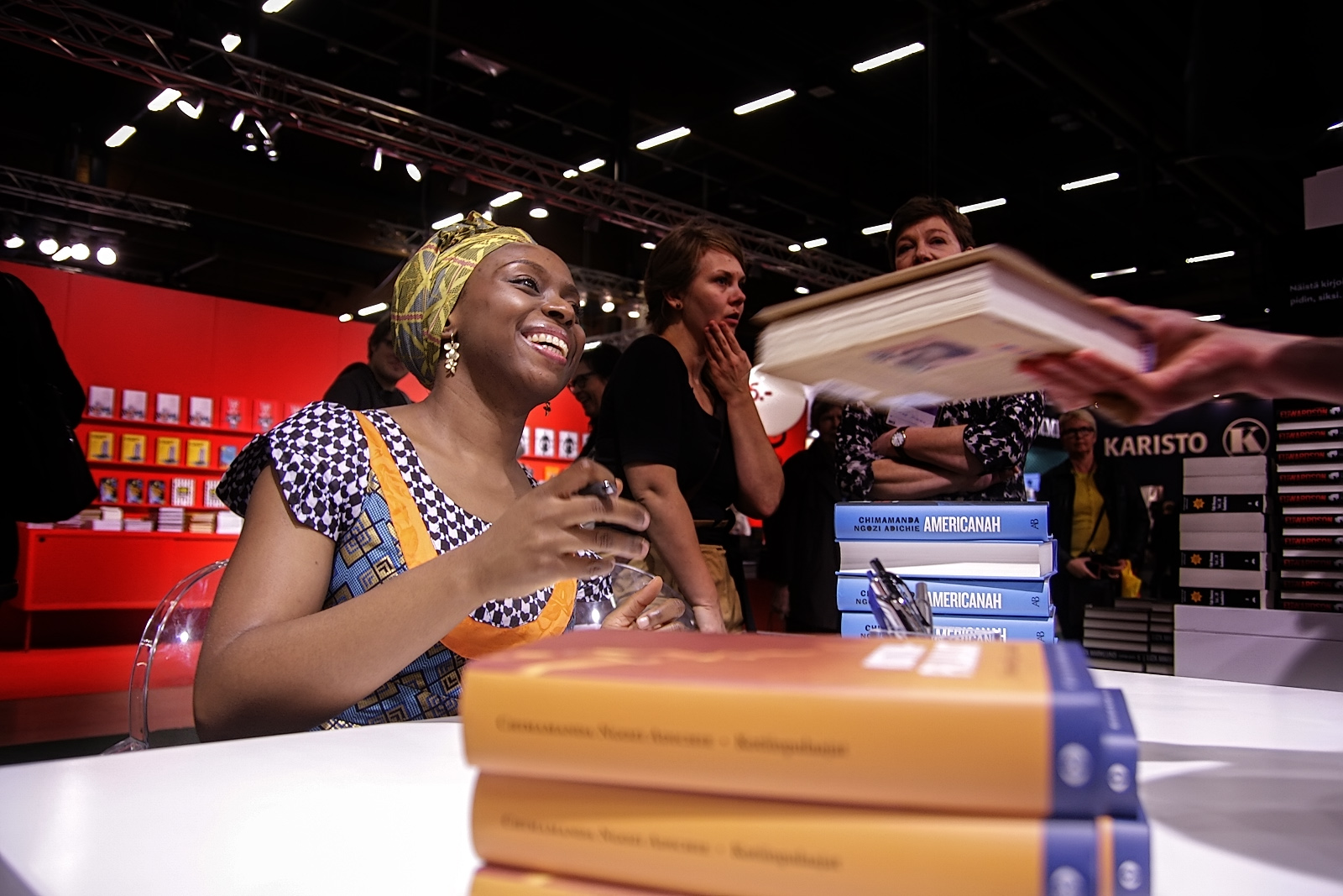 Chimamanda Ngozi Adichie, the Nigerian novelist, visiting the Helsinki Book Fair on October 24, 2013. Picture: Tony Öhberg for Finland Today