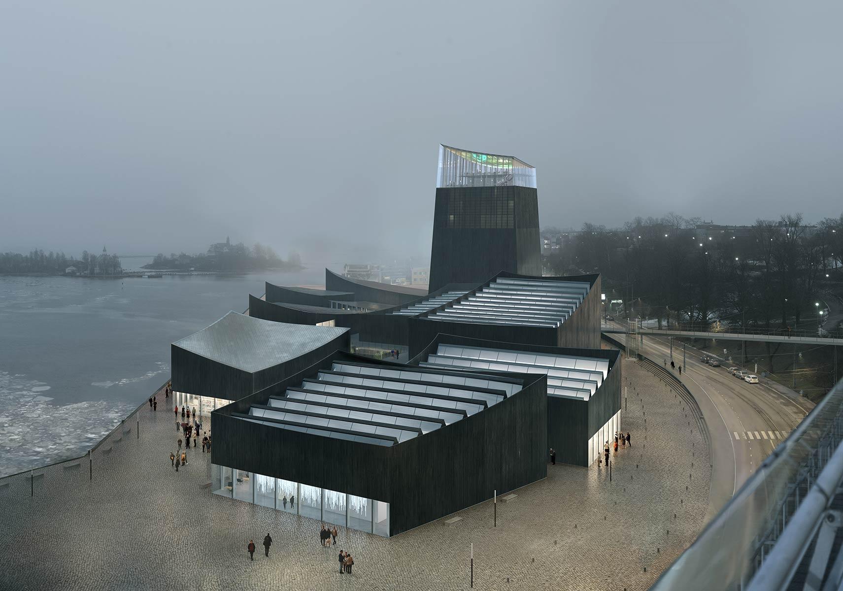 Moreau Kusunoki Architectes, a French firm based in Paris, won the design competition of Guggenheim Helsinki art museum. Illustration: Moreau Kusunoki Architectes