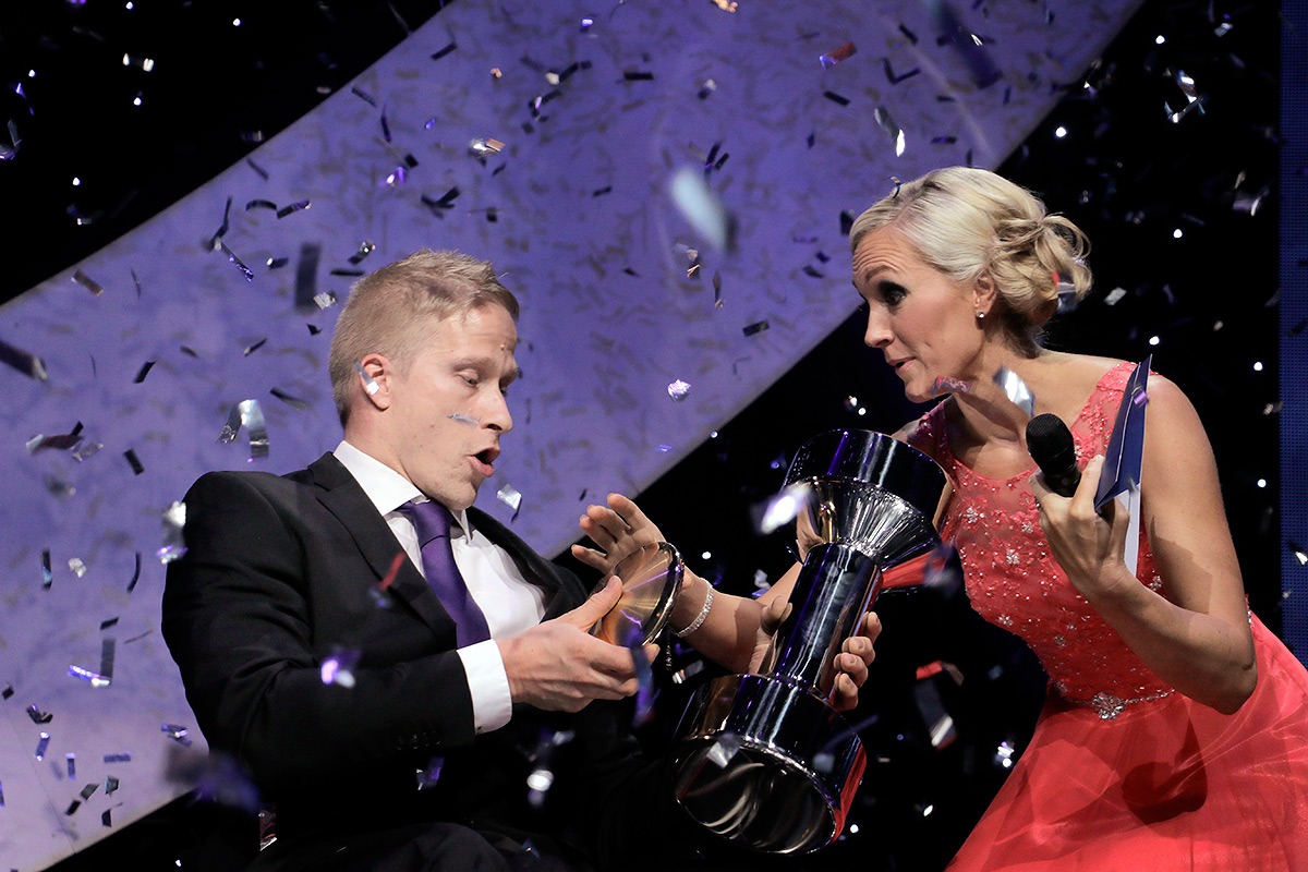 The Paralympian from Pori, Leo-Pekka Tähti, 33, was truly surprised by his selection as the Athlete of the Year at the Finnish Sports Gala in Helsinki on January 17, 2017. Picture: Tony Öhberg for Finland Today