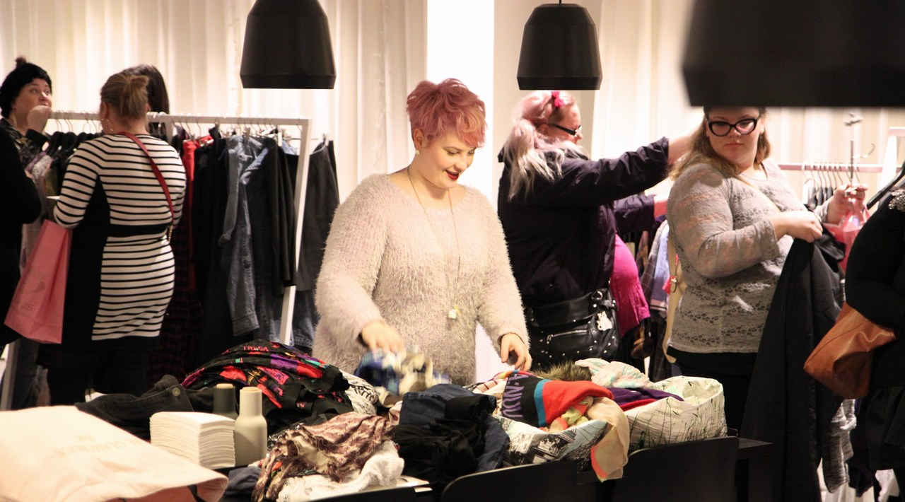 Bring Curvy Back, a clothing event for plus size women, revealed that the community around large women's clothes in Helsinki is quite small. Picture: Rory Barr for Finland Today