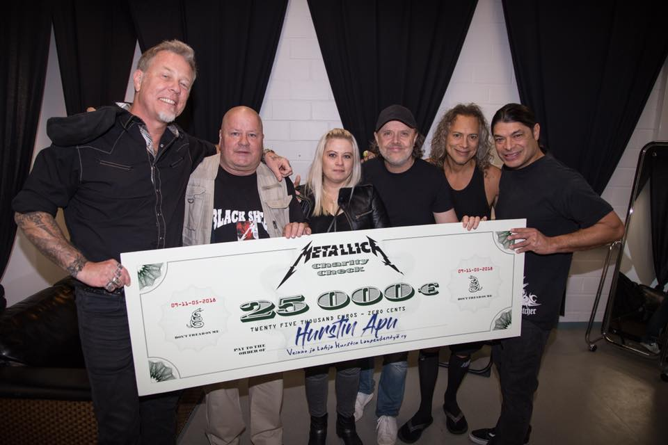 Metallica Donates 25,000 Euros to The Finnish Charity That Organizes Bread Queues for Thousands