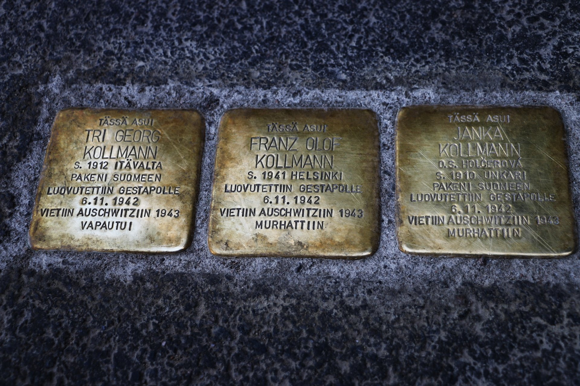 Finland's First Stolpersteins Inscribe The Names of a Jewish Family Who Was Handed Over to Nazis and Sent to Auschwitz