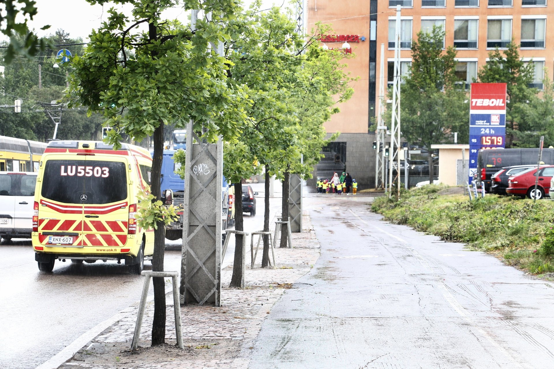 The Police Shoot At a Man Who Was Walking With a Gun In Helsinki's Ruskeasuo District