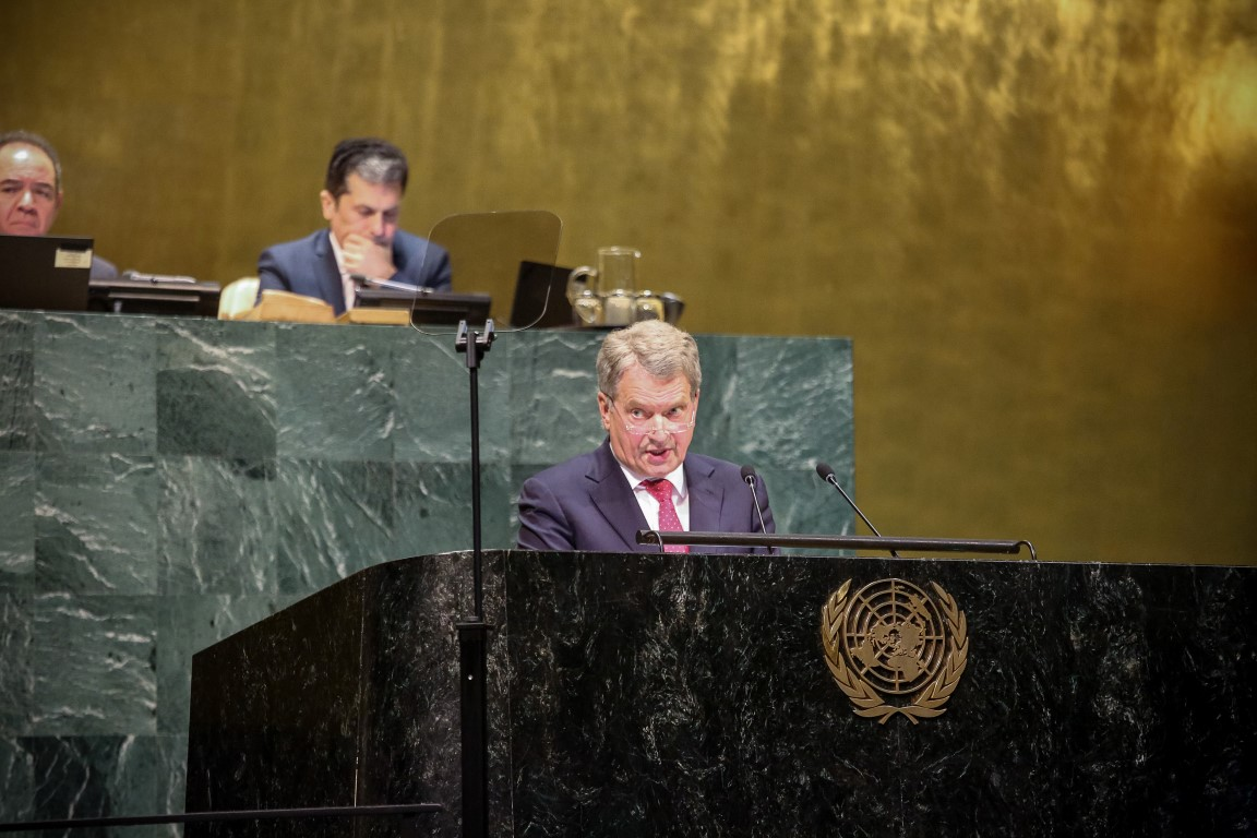 President Niinistö at the UN: There Is Now Reason to be Worried for Those of Us Who Believe in International Cooperation