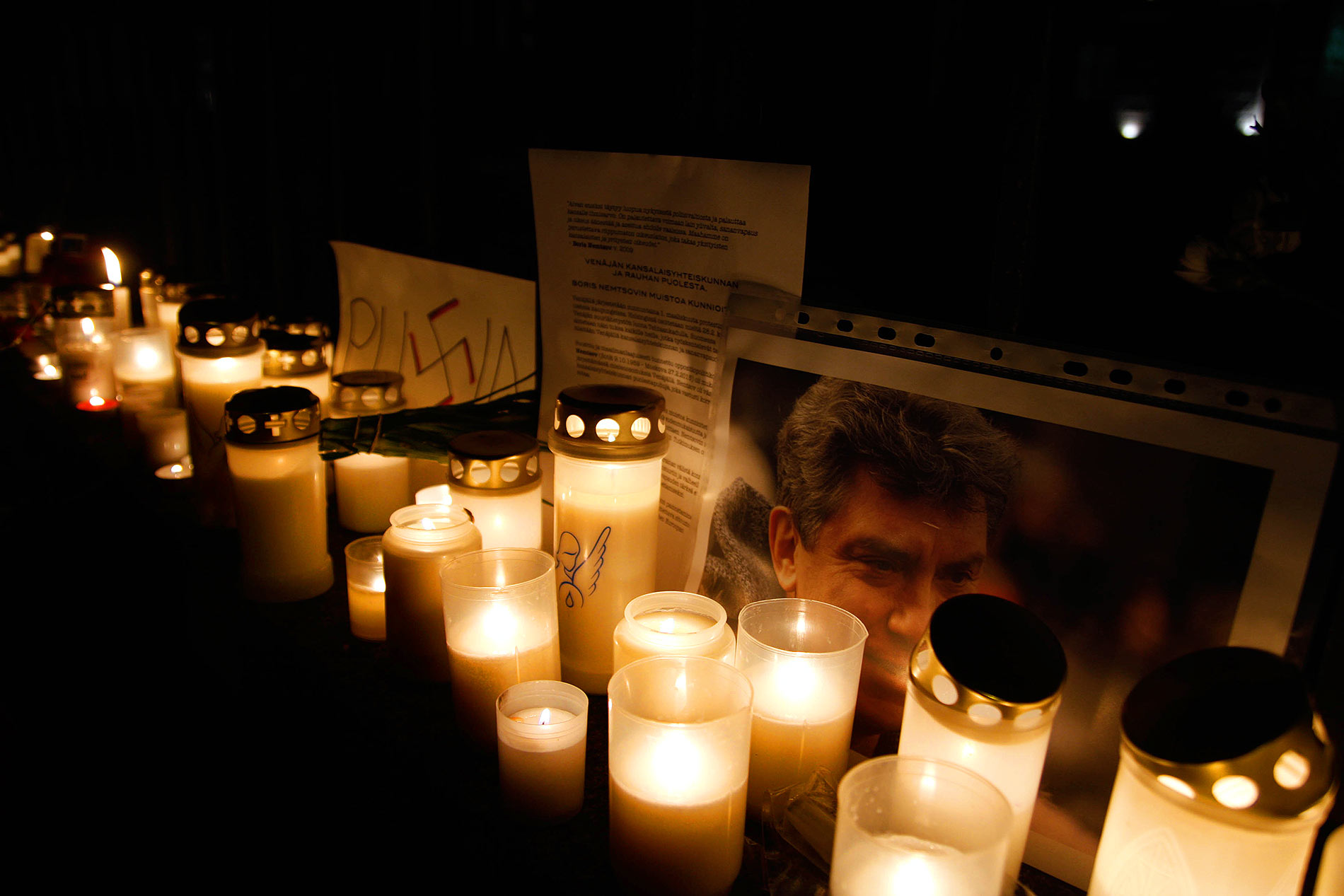 Helsinki Mourns For the Murdered Russian Opposition Leader Boris Nemtsov