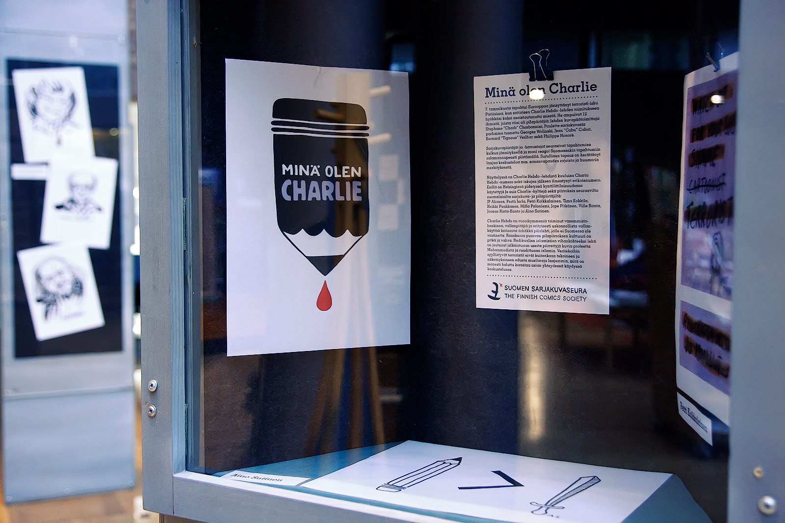 Charlie Hebdo exhibit 'Minä olen Charlie' shows that terrorism brings people closer to one another