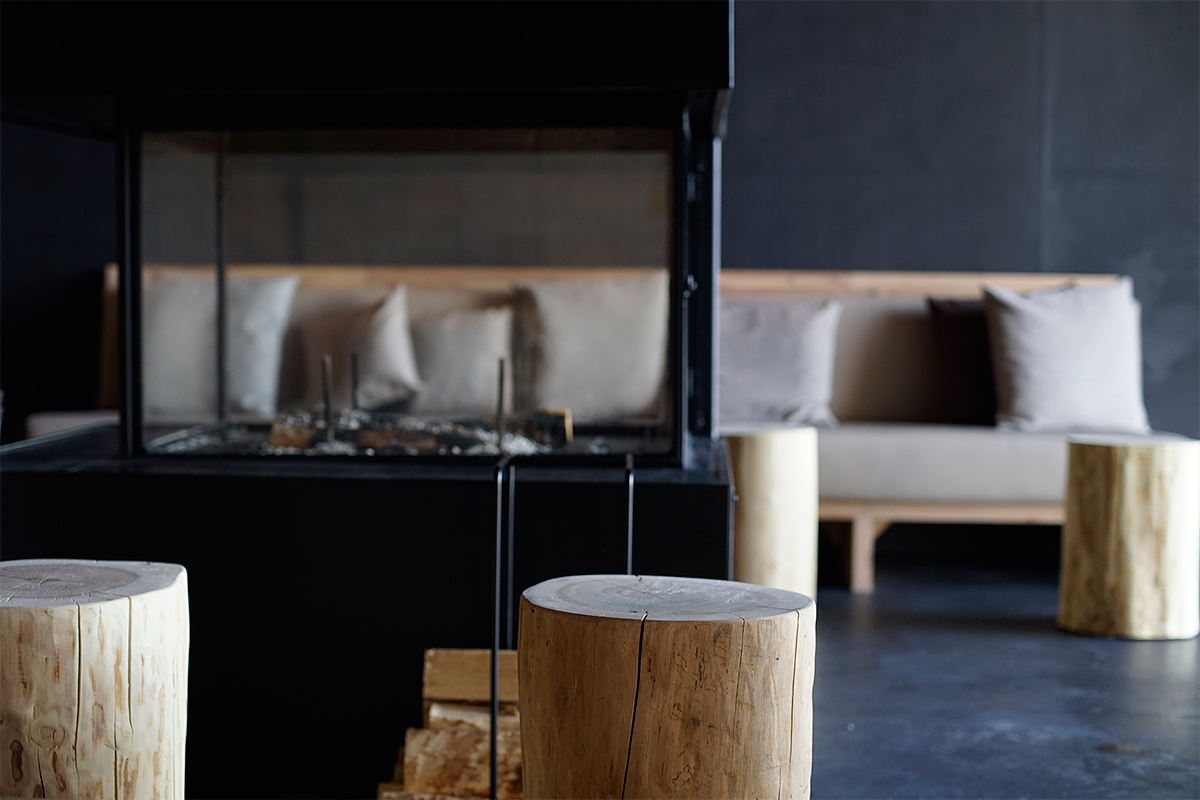 One of the rooms features a fireplace. Picture: Morgan Walker for Finland Today