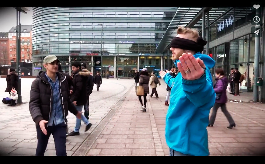 WATCH: Will Muslims Hug a Blindfolded White Man in the Centre of Helsinki?