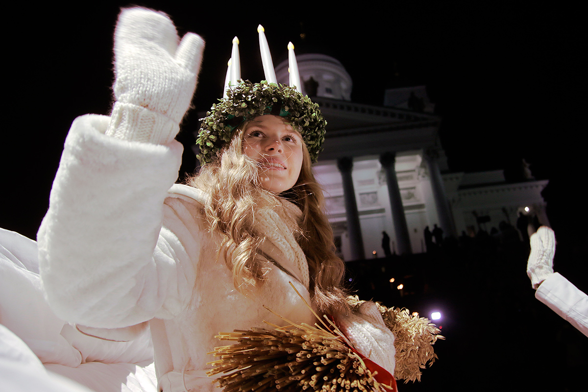 According to the legend, Saint Lucia is a powerful and compassionate saint with God-like powers. Picture: Tony Öhberg for Finland Today