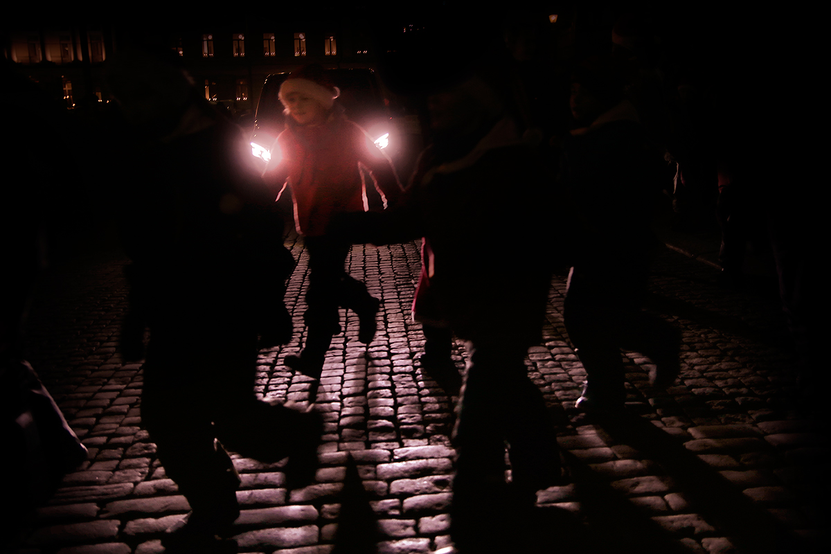 Christmas gnomes join the Lucia procession. Picture: Tony Öhberg for Finland Today