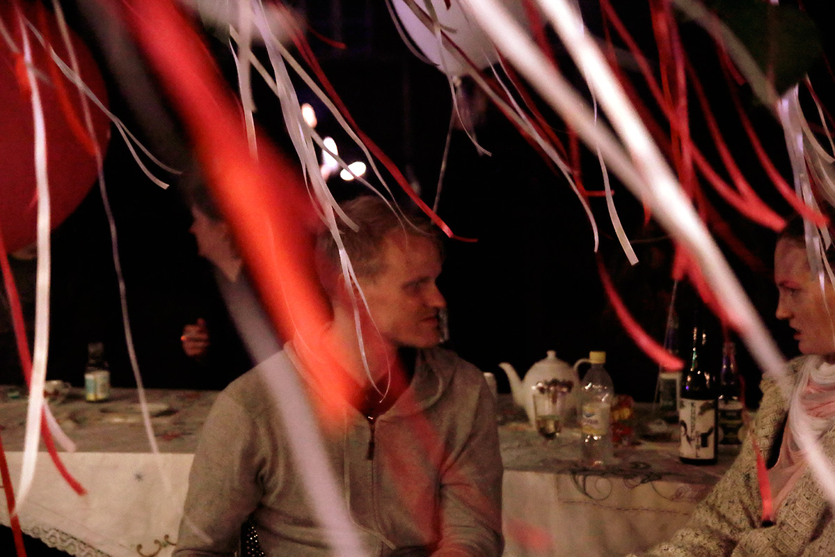 Late-night flirting under the colorful ribbons. Picture: Tony Öhberg for Finland Today