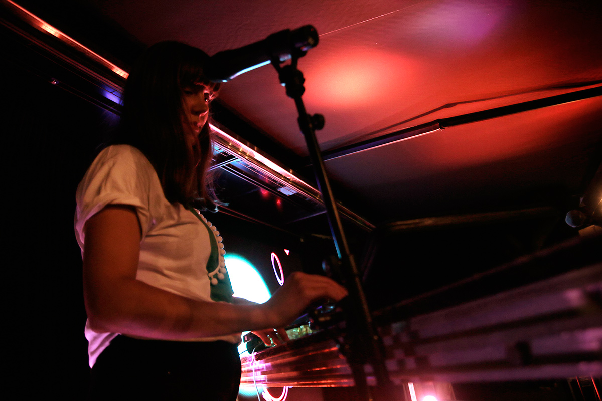 Reetta Sironen from DJ duo Wonderlust is mixing Middle Eastern, Balkan, Gypsy and folk club sounds at the Secret Garden at Kaartin lasaretti. Picture: Tony Öhberg for Finland Today
