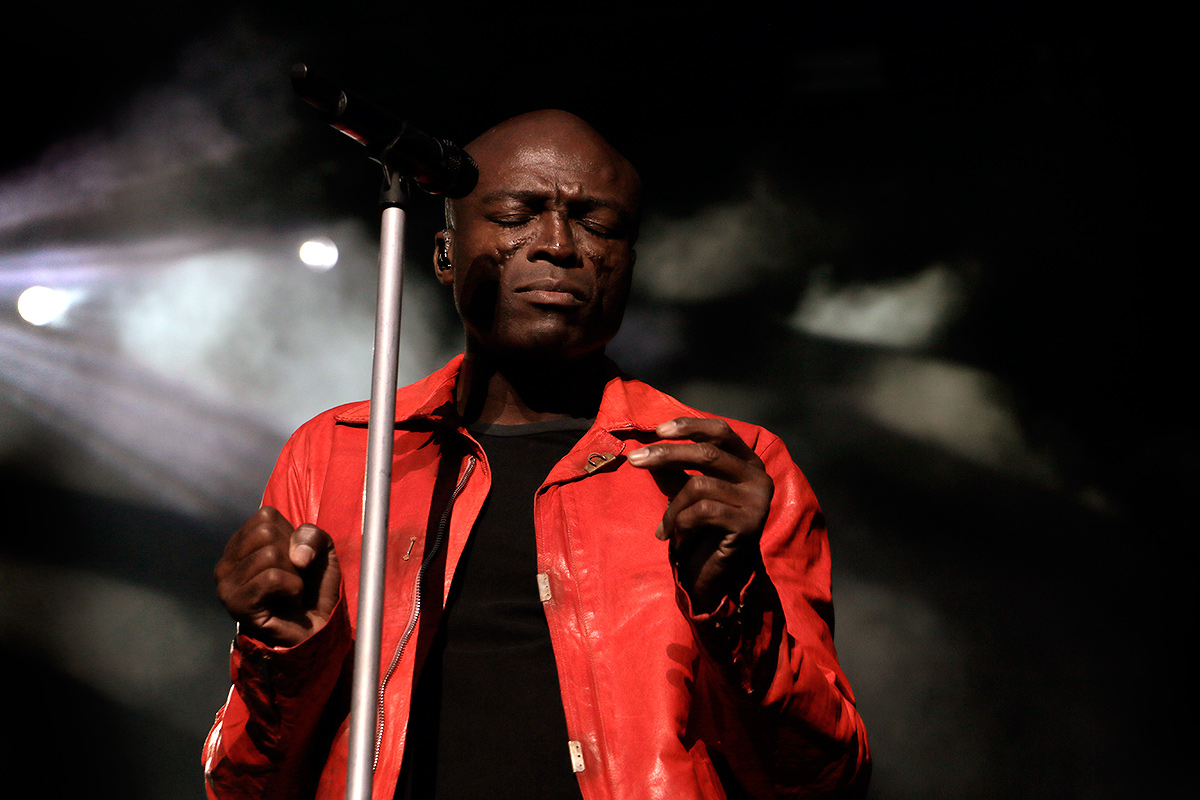 Seal, the British soul singer, was the headliner of Saturday evening at the Pori Jazz Festival in Pori on July 16, 2016. Picture: Tony Öhberg for Finland Today