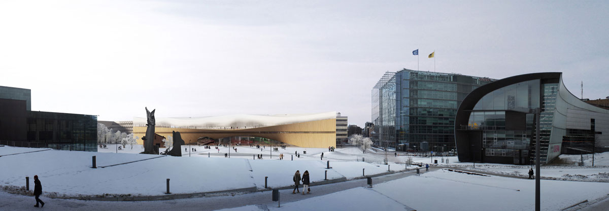 Helsinki City approves the building of Central Library which has been talked about since 1917