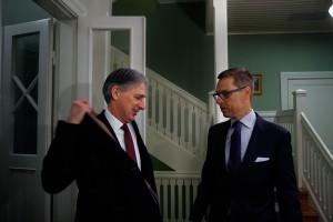 UK foreign secretary Philip Hammond meets with PM Alexander Stubb
