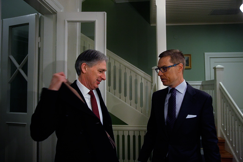 UK foreign secretary Philip Hammond meets with PM Alexander Stubb
