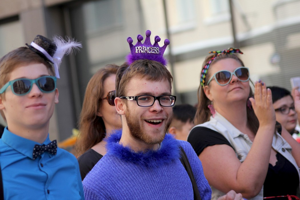People participating in the Pride Parade in Helsinki, June 2014. Picture: Romina Danell for Finland Today