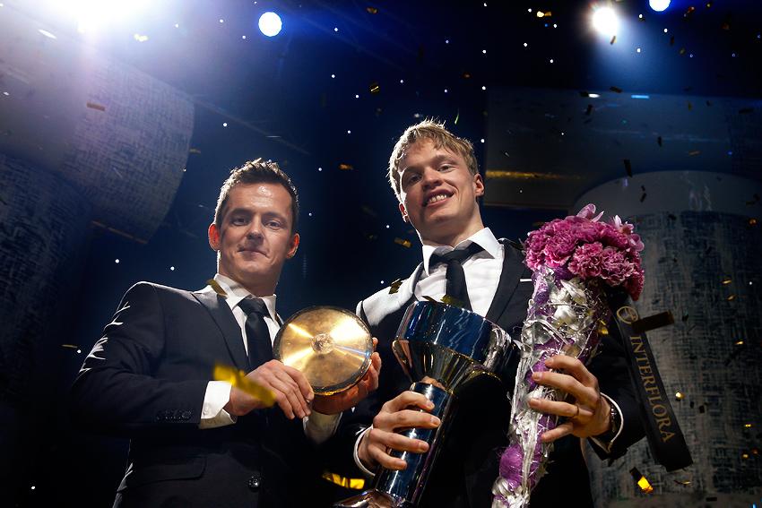 The Finnish cross-country skiers, Sami Jauhojärvi and Iivo Niskanen, won the Finnish Athlete of the Year Award at the Finnish Sports Gala on Tuesday 13 January 2015. Picture: Tony Öhberg for Finland Today