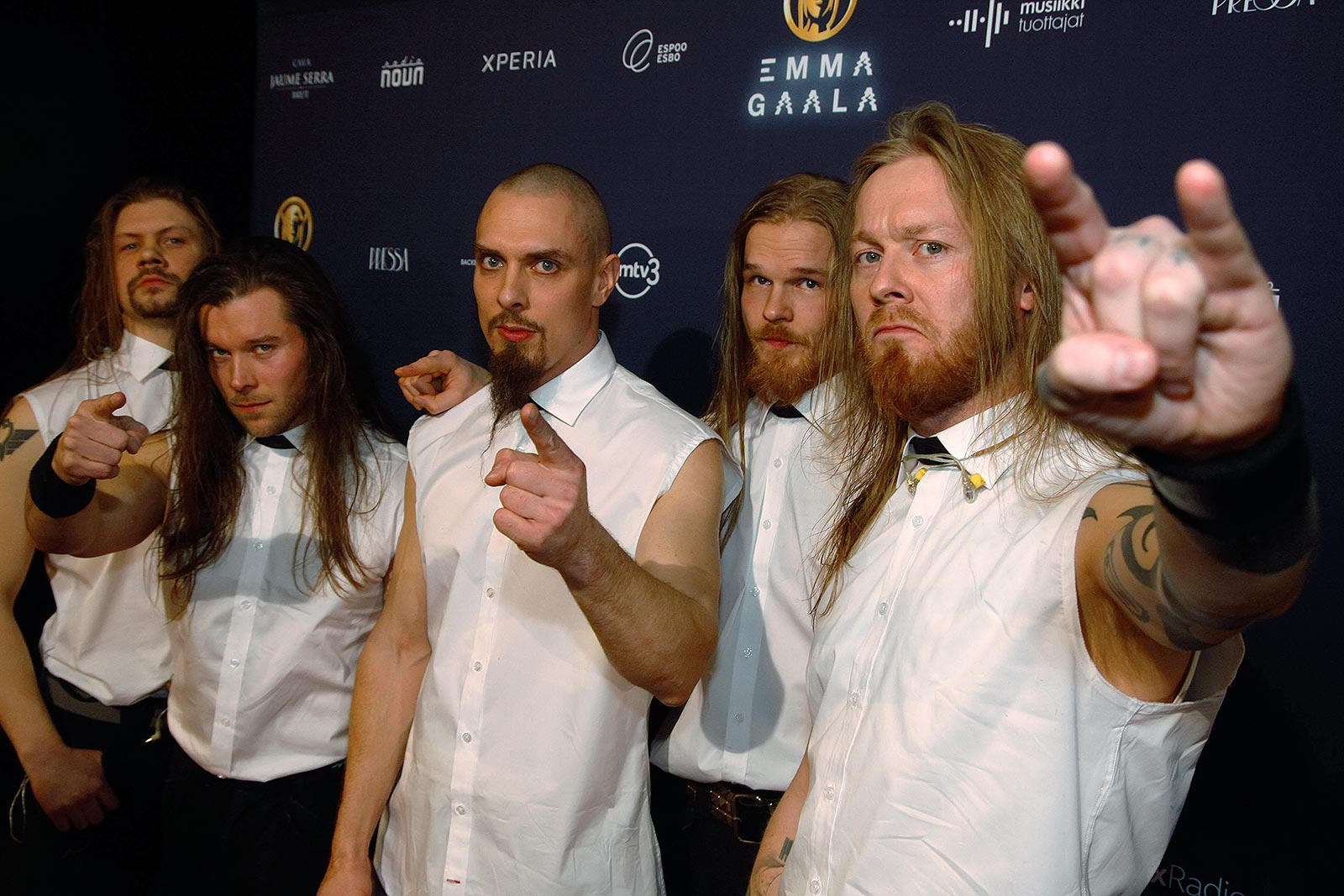 """Stam1na won the award for the metal band of the year. """"We are going to get really wasted,"""" Teppo Velin, the drummer said. Picture: Tony Öhberg for Finland Today"""