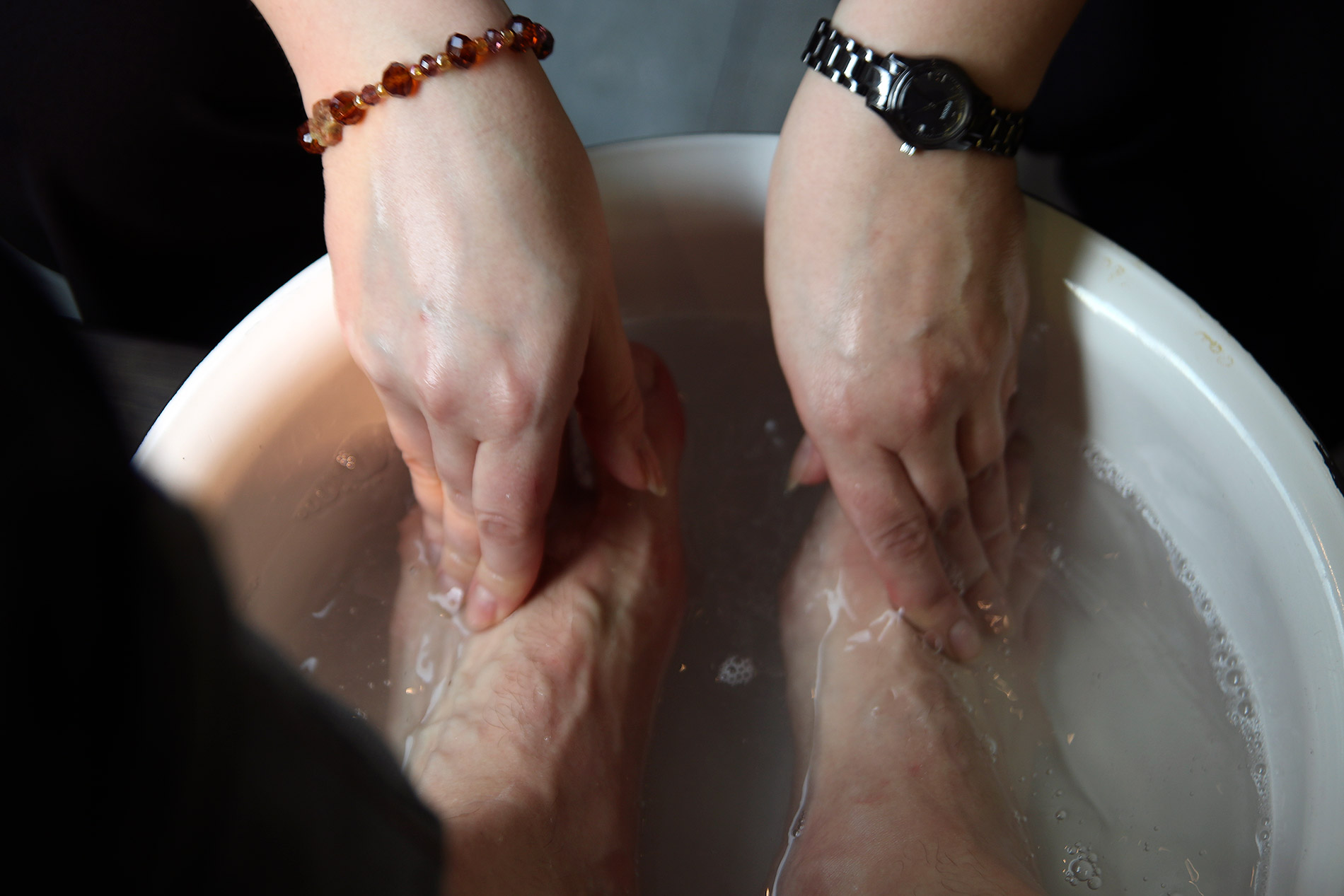I Got My Feet Washed For Easter By a Priest