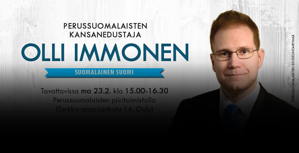 Finns Party Member Olli Immonen Wants to End the Nightmare Called 'Multiculturalism'