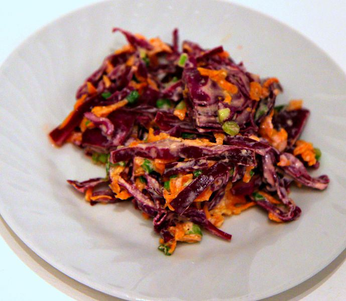 Here's How to Make a Colorful and Crunchy Coleslaw Dish