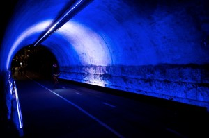 PICTURES: Cycling Route Baana Turns Into Tunnel of Light in Helsinki