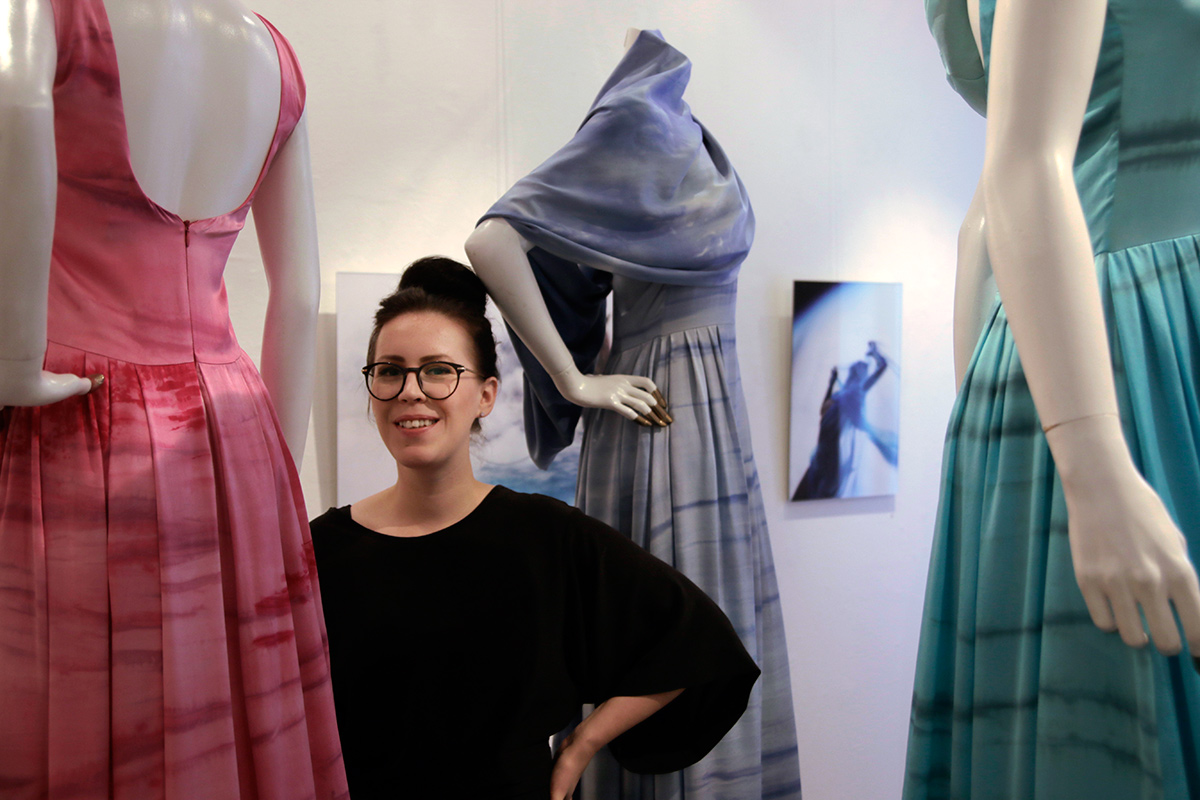 Dreamlike Silk Dresses Draw Influence From the Finnish Skyline